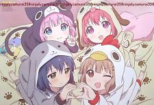 Yuru Yuri  / Blood Blockade Battlefront poster promo anime Kekkai Sensen