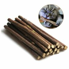 20Pcs Natural Catnip Pet Cat Toothpaste Cat Snacks Sticks Pet Cleaning Teeth