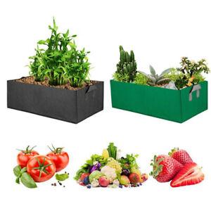 Square plant Grow Bag Pots Fabric Garden Flower veg gardening tool for yard