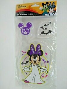 Disney Minnie Mouse Halloween Gel Window Cling  3 Piece New