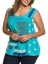 Shirt Longshirt Bluse Tunika Ulla Popken blau 46 48 50 52 54 56 Neu