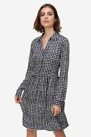 0039 Italy - Kleid Constanza Damen Hemdblusenkleid Allover-Muster NEU: 199 €