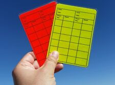 Soccer Referee Red/Yellow Card Neon Color