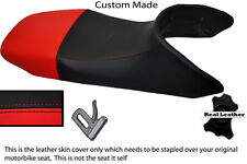 BLACK AND RED CUSTOM FITS HONDA TRANSALP XL 650 LEATHER SEAT COVER