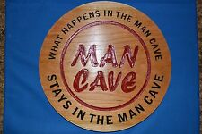 Man Cave Sign carved in Cherry Wood American Made Home Made