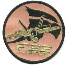 USAF EMBROIDERED PATCH LOCKHEED BOEING GD F-22 RAPTOR