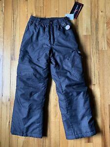 Boys Zero Xposur Snow Pants Size S (8) Black Denim Color Ski Snowboard NWT