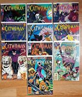 DC Comics 1993 CATWOMAN Lot of 10 - 3 4 5 6 8 9 10 11 13 14 NM Bagged Boarded