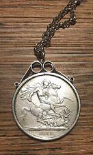 1888 Ein Crown VICTORIA Silber Münze in Anhänger und Kette