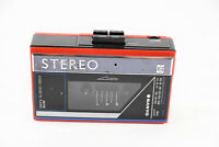 Vintage SANYO Red MGR59 AM FM Stereo Cassette Player Not Working For Parts