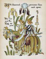 FAIRY Iris Flower, 1890 Antique Art Nouveau Print