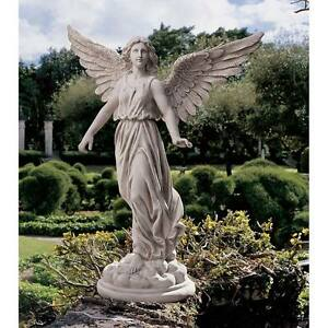 "SWEET ANGEL GARDEN STATUE 22"" TALL SPIRITUAL SCULPTURE HOME ART YARD PATIO DECOR"