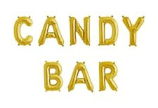 """CANDY BAR Letter Balloons - 16"""" Gold - Sweet Treats Sign - US SHIP"""