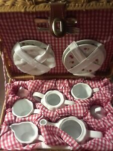 Delton Children's Porcelain Tea Set for 2 with CHERRIES New with tags