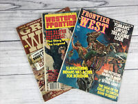 Western Cowboy Story Magazines Lot Of 3 Vintage 1970's ~ Old West Frontier Tales