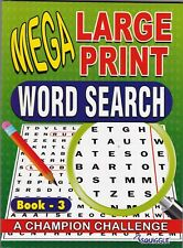 WORDSEARCH PUZZLE BOOK 3 LARGE PRINT 129 PUZZLES- BUY ANY 2 GET ANY 1 FREE