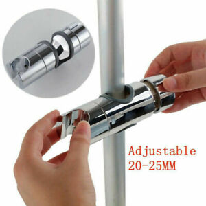 Bathroom Shower Rail Head Holder Hose Riser Slider Bar Clamp Bracket Adjustable