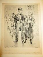 Gaston LA TOUCHE (1854-1913) GRAVURE Originale L'ASSOMMOIR ZOLA REALISME 1878 b