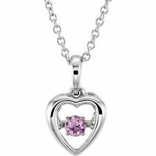 """Pink Sapphire Mystara 18"""" Necklace In 14K White Gold"""
