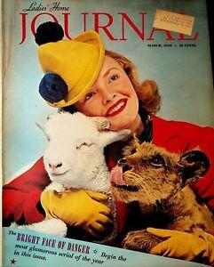 Ladies Home Journal Magazine March 1939 Edward Steichen Lion Lamb Woman Cover