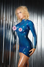 Latex Dress Summer Dress Transparent Blue Slim Party Wear Dresses