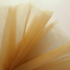 GOLD TAN BROWN BELLE TULLE Net Fabric 300cm Wide, venduti dall' M, VELO Pleat RUSCH