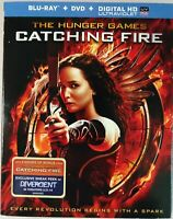 The Hunger Games: Catching Fire (Blu-ray + DVD, 2013) Jennifer Lawrence