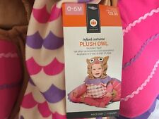 Plush Owl Infant Baby Girls Halloween Costume Size 0-6 months NWT NEW WITH TAGS