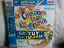 "Cinnamon Toast Crunch SpongeBob Squarepants, ""Free Toy"", Empty Cereal Box,+Toy"