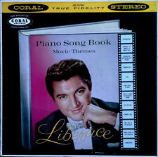 LIBERACE - PIANO SONG BOOK MOVIE THEMES - CORAL - STEREO LP - INSCRIBED BACK CVR