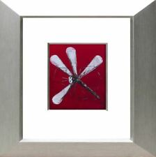 David HART - Dragonfly (Red) Oil on Canvas - FRAMED - SIGNED - son of Pro Hart