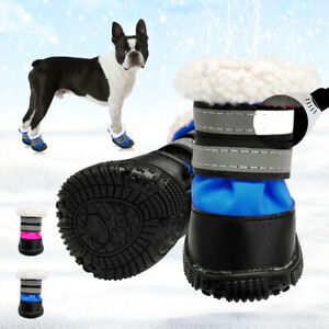 Waterproof Winter Dog Shoes Reflective Non-Slip Snow Boots Booties Warm Padded