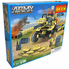 Kids Cogo Toy Construction Building Brick Set Of Blocks Gift ARMY MISSILE GUN