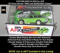"Custom Display Case AFX: '57 Chevy NOMAD ""LIME with Dark Green Stripes"""