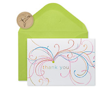 14-Count Swirl Thank You Boxed Blank Note Cards With Glitter Unique Designs