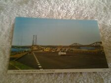 Vintage postcard THE MAIN APPROACH ROAD TO FORTH ROAD BRIDGE