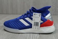 54 Adidas Predator 19.1 BOOST TR Turf Blue Athletic Shoes Men's Size 8.5 BB9081