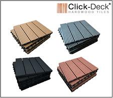 CLICK-DECK - COMPOSITE Decking Tiles Interlocking Deck Tile Patio Balcony Garden