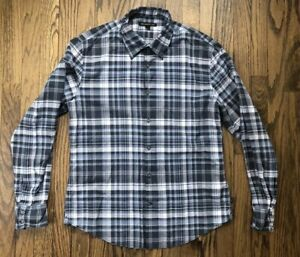 John Varvatos Mens Long Sleeve Button Down Casual Shirt Size Medium