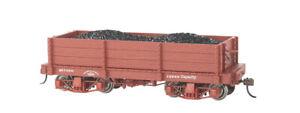 Bachmann-18' Wood Low-Side Gondola - Spectrum(R) -- Data Only (Oxide Red) pkg(2)
