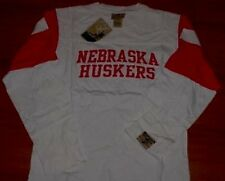 Nebraska Cornhuskers Long Sleeve T-Shirt 2XL Embroidered Logos Reebok NCAA