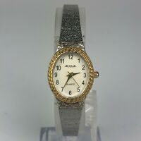Vintage Acqua Womens J7 Stainless Steel Quartz CR1216 Cell Watch Silver Gold
