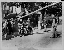 1934 Frontier Between Saar & Germany Press Photo