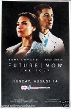 "DEMI LOVATO / NICK JONAS ""FUTURE NOW THE TOUR"" 2016 SAN DIEGO CONCERT POSTER-Pop"