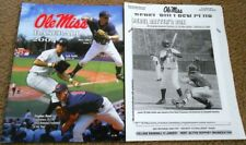 Ole Miss vs Birmingham-Southern Baseball Program 2004 With Roster Sheet