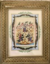 Islamic hand painted hunting  picture
