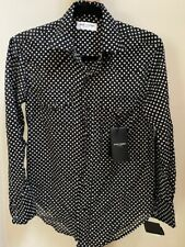 Saint Laurent polka dot western womens shirt.BRAND NEW WITH TAGS.SIZE SMALL.