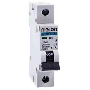 Niglon MCB 6A 10A 16A 20A 25A 32A 40A 50A 63A Single Pole Type B Circuit Breaker