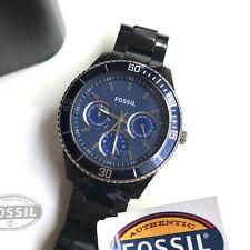 Fossil Watch * ES2828 Stella Blue Dial Black Acrylic for Women