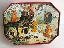 Vintage 1996 Disney Store Winnie the Pooh Commemorative 6 Pins Tin Box Set